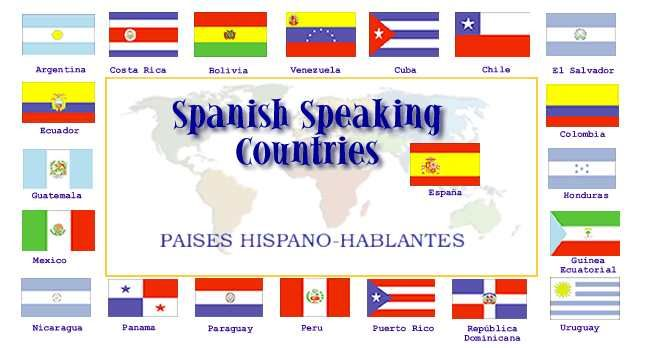 all spanish speaking countries south america spanish pronunciation ...