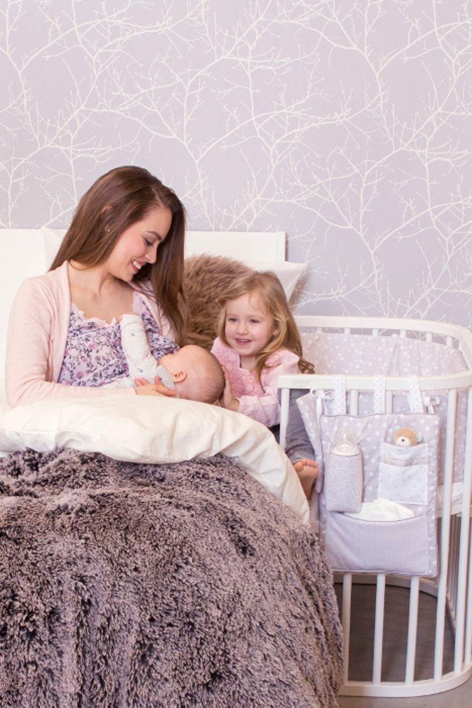 Babybay Original Buche Massiv Weiss Lackiert Von Babybay Liegeflache 81 X 43 Cm Mit Bildern Babybay Beistellbett Beistellbett Babybay