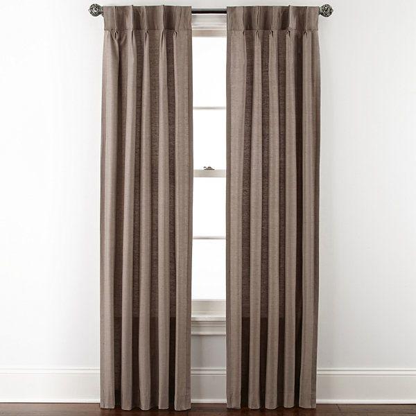 Royal Velvet® Supreme Pinch-Pleat/Back-Tab Curtain Panel - JCPenney