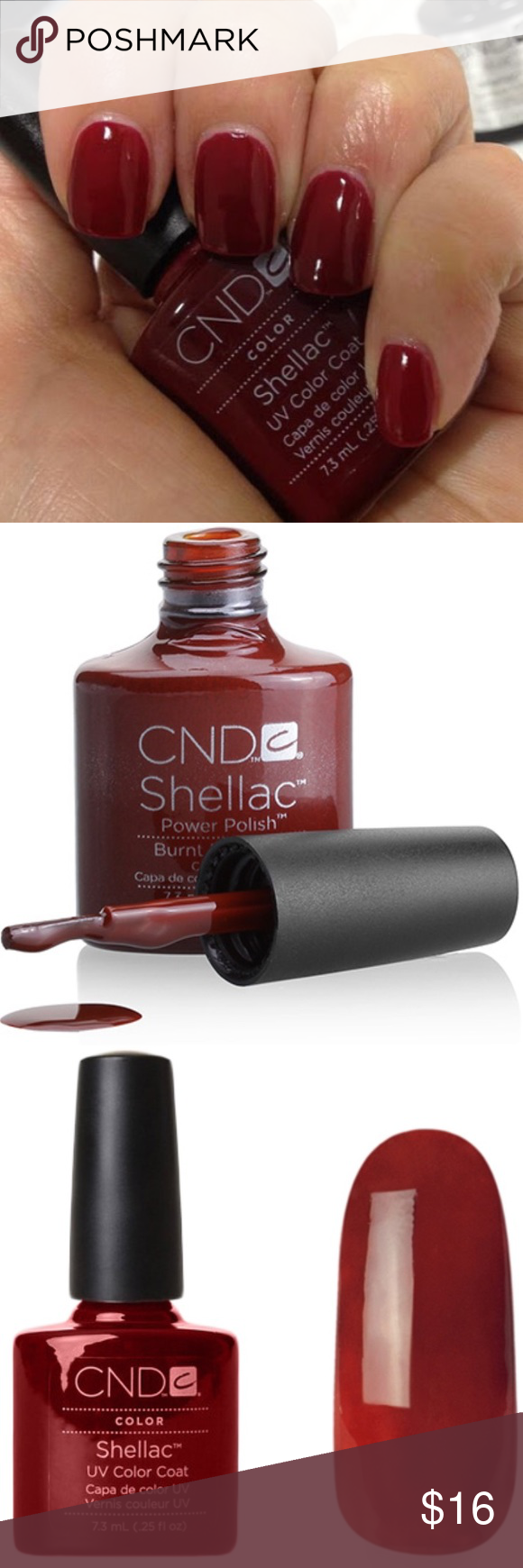 New Cnd Shellac Gel Polish Burnt Romance Full Size Creative Nail