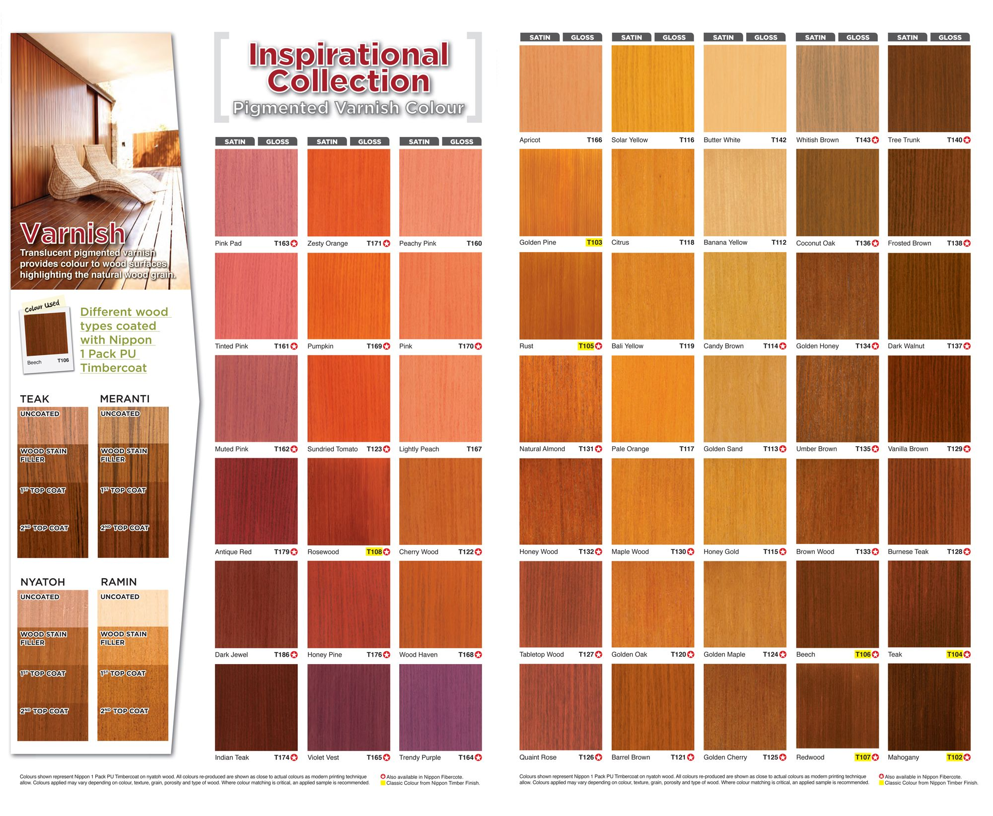 Image Result For Nippon 9000 Gloss Finish Colour Chart Color Color Chart Types Of Wood