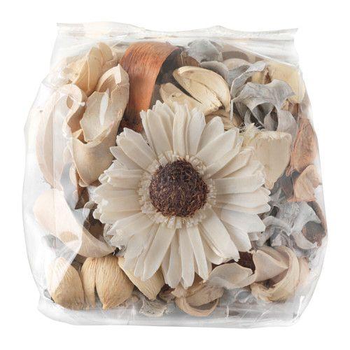 IKEA - DOFTA, Potpourri, Denne potpourri er dekorativ i en skål, og duften af blid vanilje skaber en særlig stemning. --- Le hacemos bolsitas de organza para cada invitada.   Nada más para escribir 'gracias'.