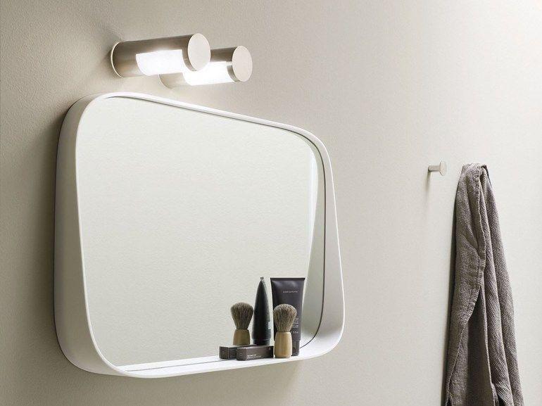 Plafoniere Specchio Bagno : Specchio bagno quadrato collezione fonte by rexa design