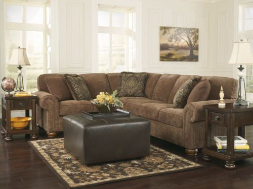 Bella Traditional Brown Chenille Sofa Couch Sectional Set Living Room  Furniture | EBay