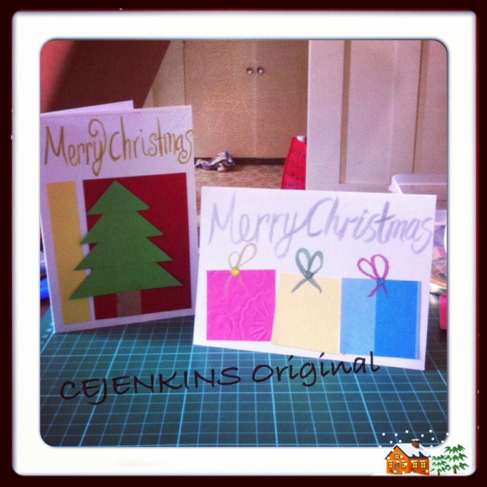 Merry christmas easy handmade cards christmas pinterest