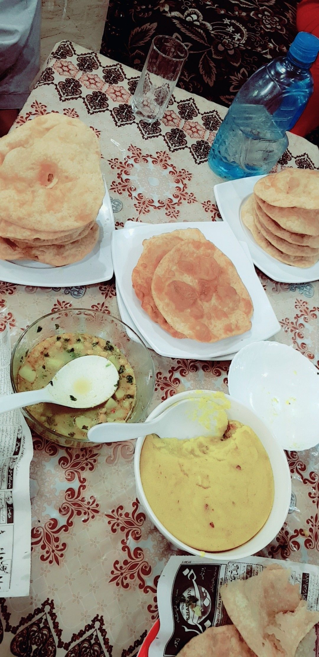 Halwa Puri Yummy Desi Nashta Food Breakfast Yummy
