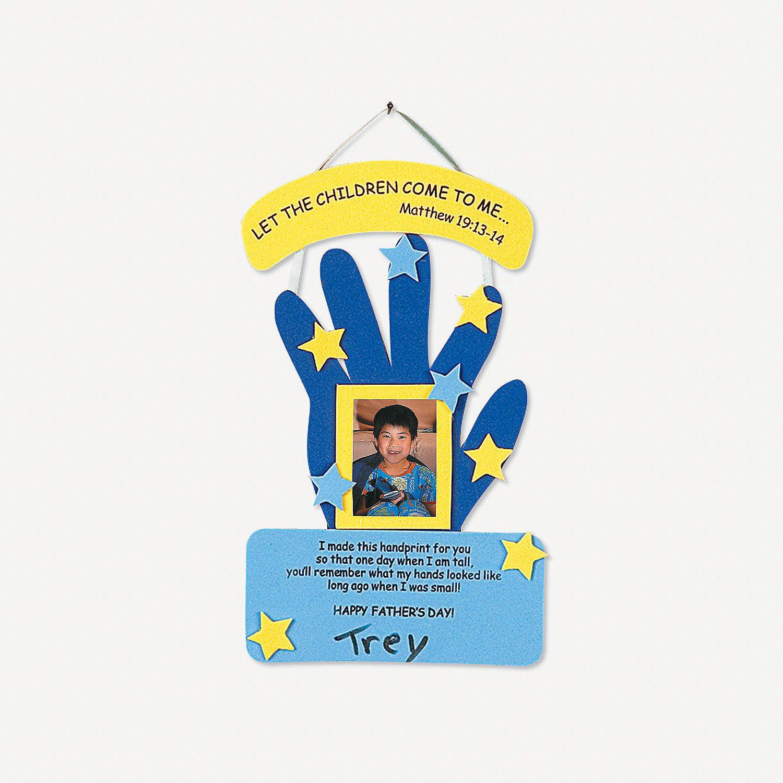 Handprint Fathers Day Keepsake Craft Kit  Orientaltradingcom