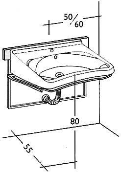 Aseo elevable arquitectura pinterest fontaneria - Altura de lavabo ...