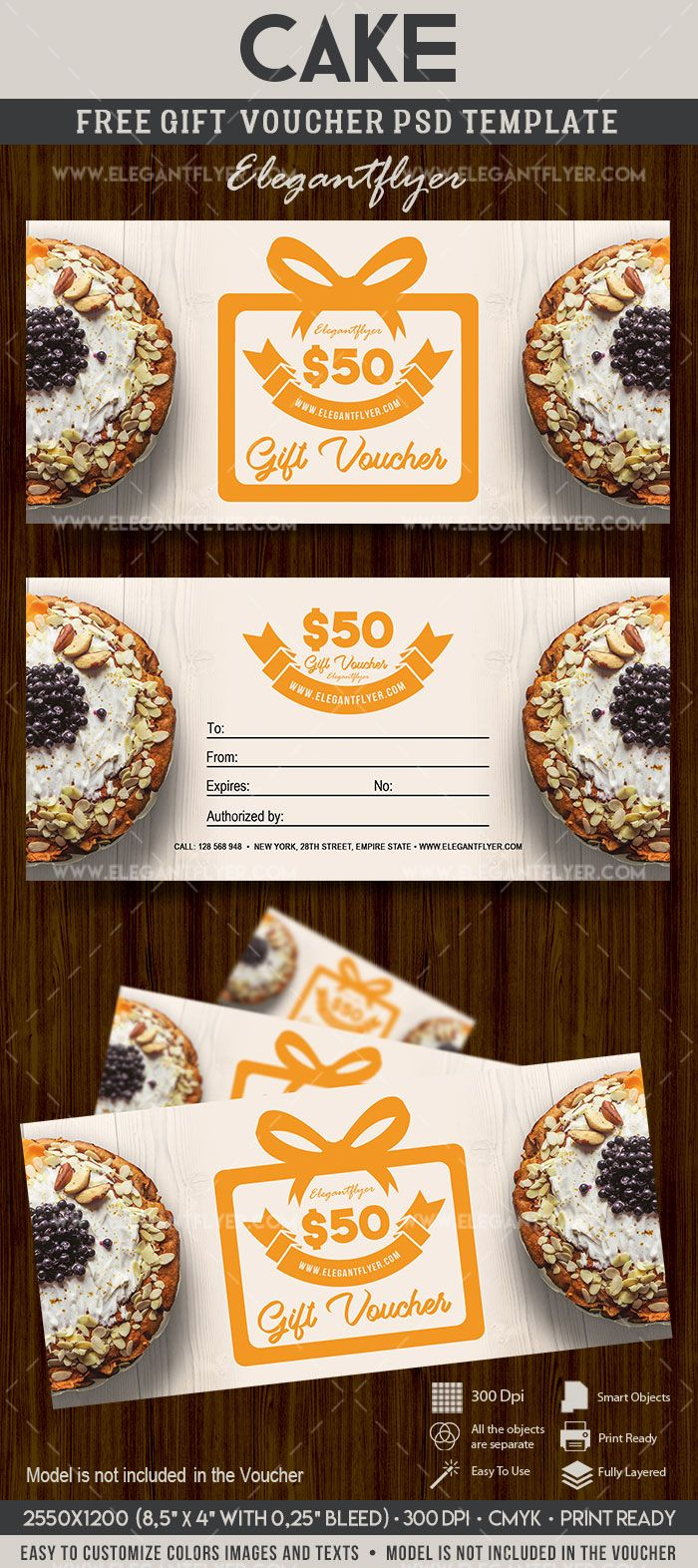 Cake free gift certificate psd template free gift certificate cake free gift certificate psd template free gift certificate template gift certificate template and psd templates yelopaper Images