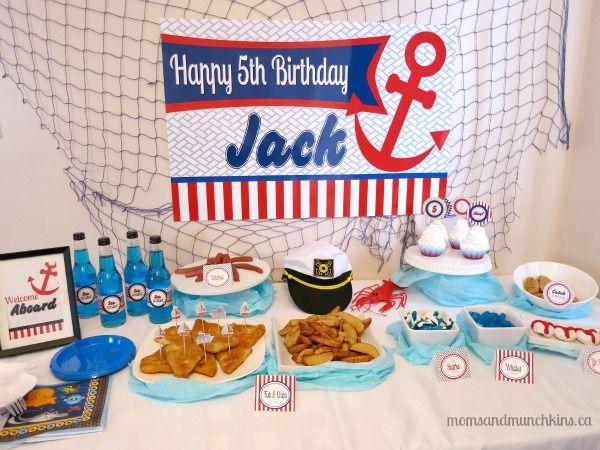 Nautical Theme Baby Shower Sailor Birthday Party Ideas