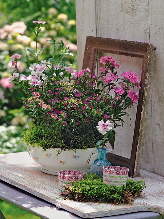 Gartendeko Vom Flohmarkt Garten Deko Gartendekoration Gartendekor