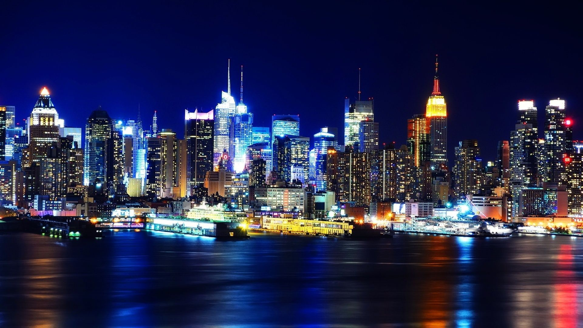 Sharing New York City Night Lights Hd Wallpapers Wallpaper New York Wallpaper New York Night Ny City