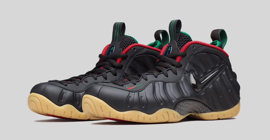 new products f3d75 56a3b NIKE AIR FOAMPOSITE PRO-BLACK-GORGE GREEN-GYM RED-METALLIC GOLD-3