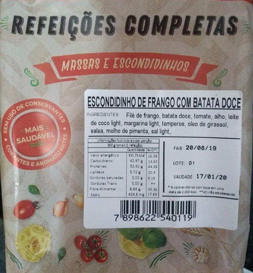 dieta frango com batata doce
