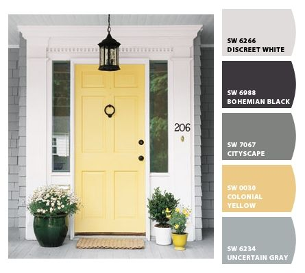 Paint Colors From Chip It By Sherwin Williams Yellow Front Doors Painted Front Doors Door Inspiration