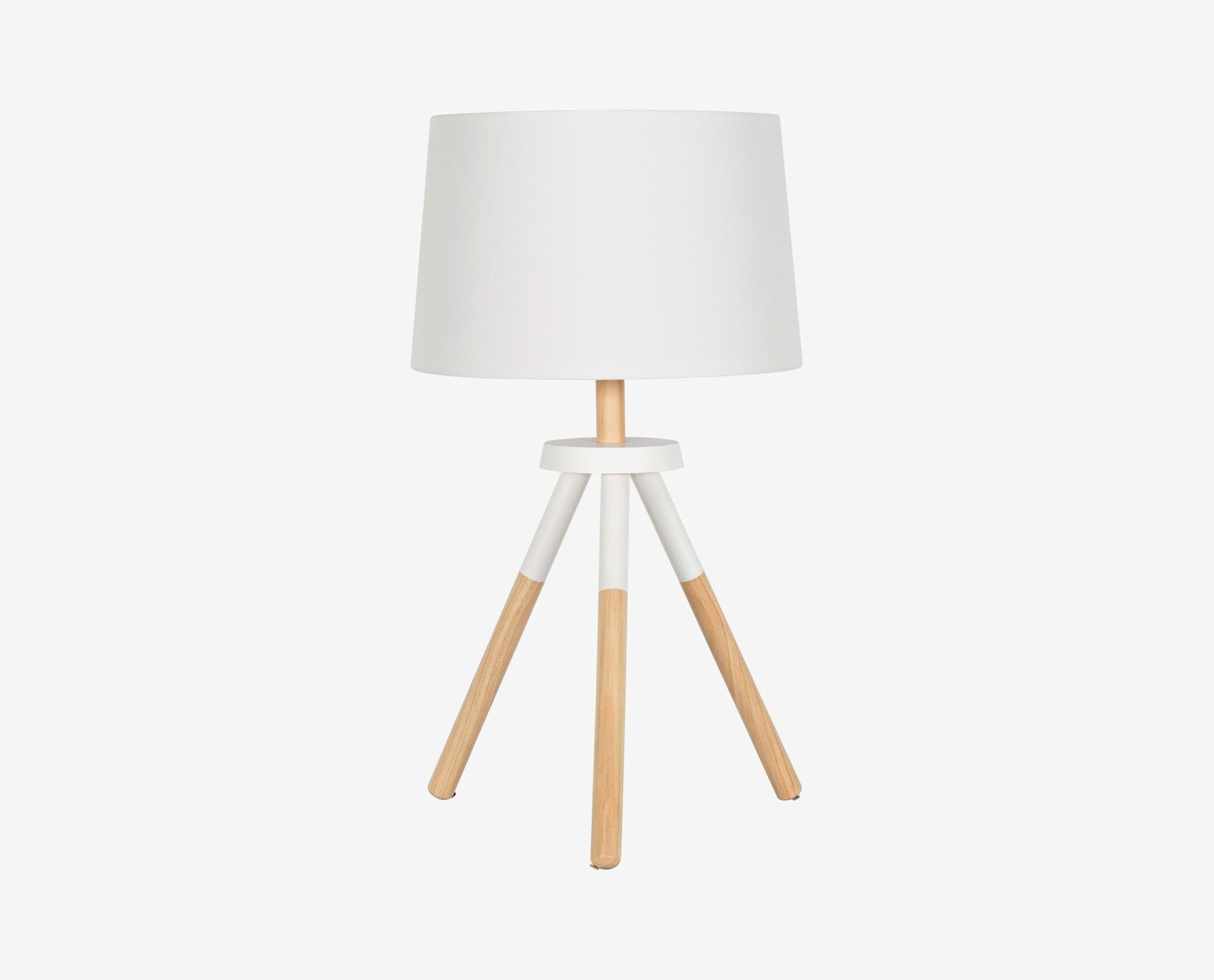 Dania Update Your Living Room With The Wooden Tripod Table Lamp