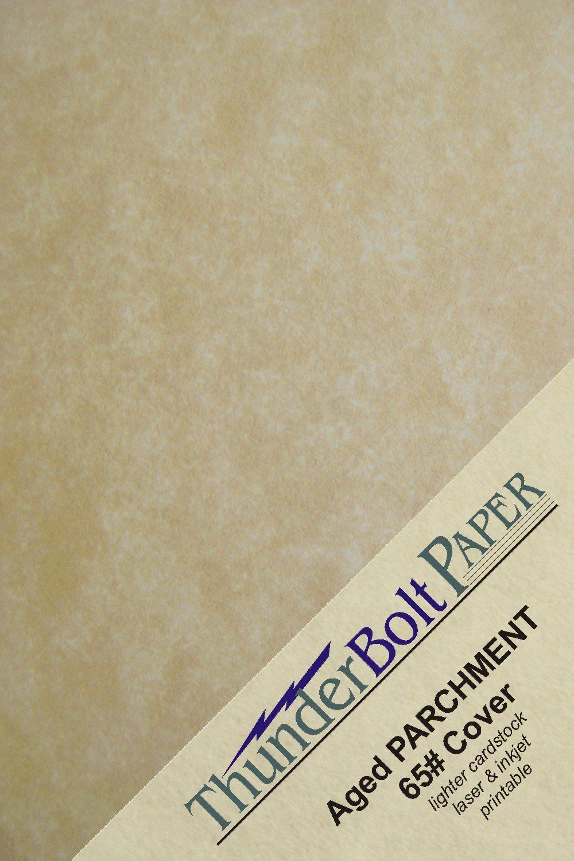 500 Old Age Parchment 65lb Cover Paper Sheets 4.25' X 5.5