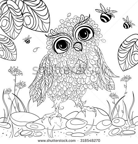 Art And Color Therapy An Anti Stress Coloring Book Wise Owlet Flora Page