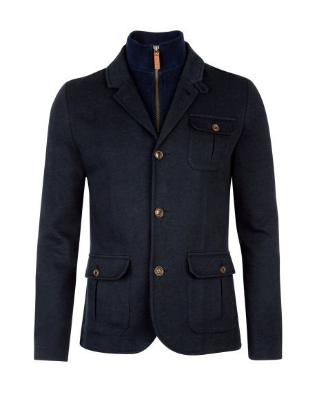 25448dddeb354 THATJAK - Zip through jacket - Navy