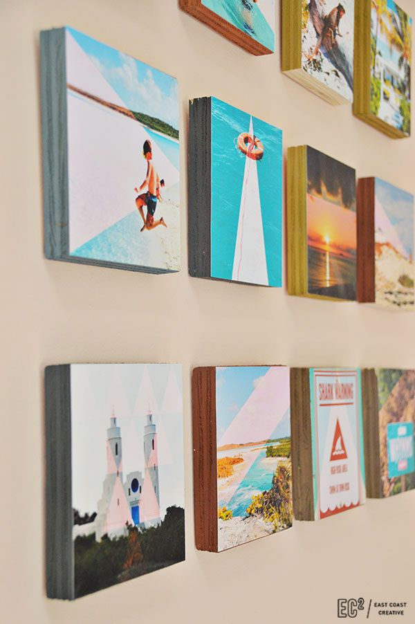 DIY Wood Block Instagram Wall Art | Marcos cuadros, Decoraciones de ...