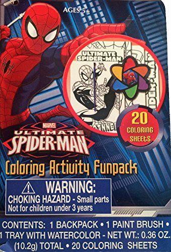 Disney Spiderman Coloring Activity Funpack Toddler Backpack Want To Know More Click On The Image Spiderman Coloring Color Activities Toddler Backpack