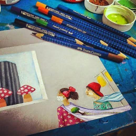 """Ilustrando """"Aquí dentro hay un secreto para héroes"""" para Somos Nupa."""