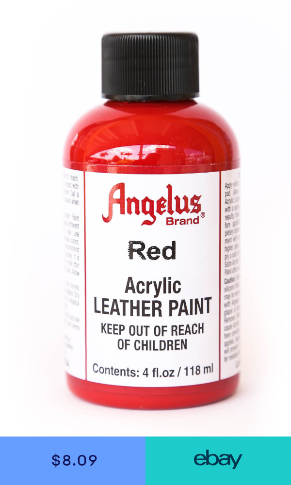 Angelus Brand Acrylic Leather Paint Waterproof Red 4 Oz Leather Paint Acrylic Brand