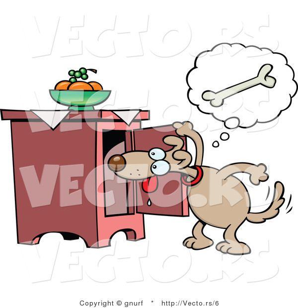 Cartoon Dog Searching For Bone Cartoon Dog Cartoon Illustration Cartoon