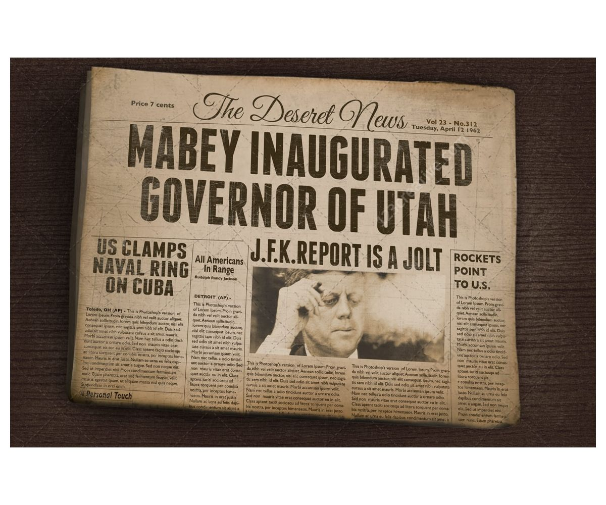 Vintage Newspaper Mockup  Old Folded Newspaper Realistic Mockup