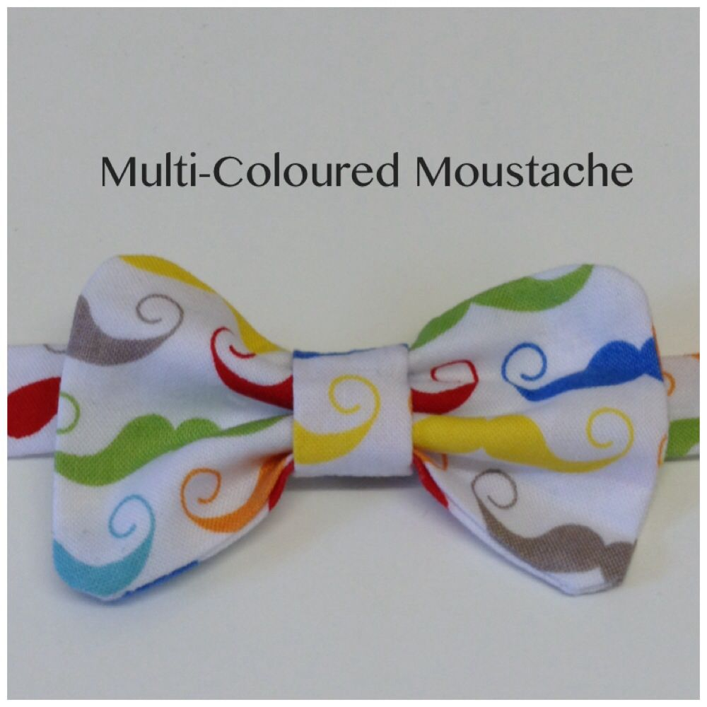 Boys Mens Stylish Funky Moustache Print Bow Tie Bowtie Handmade To Order Http Www Ebay Co Uk Itm 301299144682 Handmade Funky Bows
