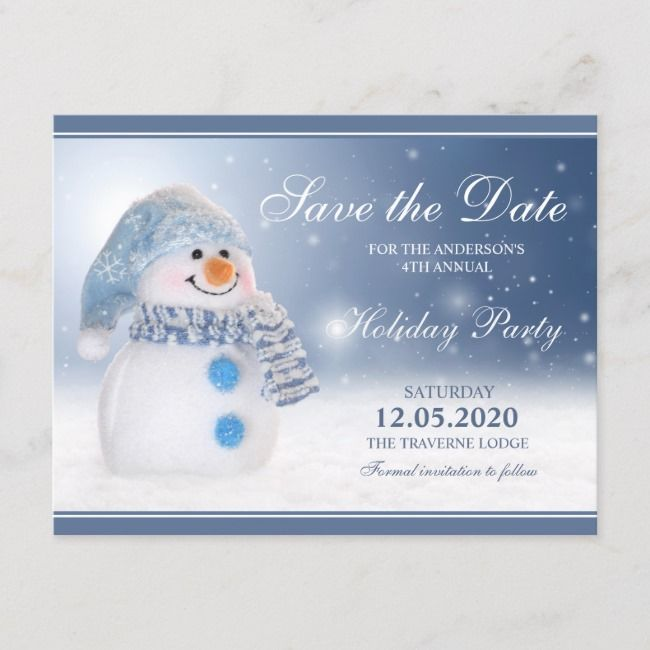 Snowman Party Invitation Save The Date    Snowman Party Invitation Save The Date