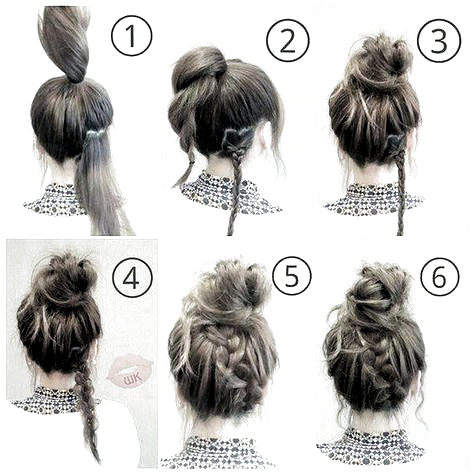 Hairstyle Easy Updo Hairstyle Easy Updo Hairstyle Easy Hairstyle Easy Step By Step Hairstyl In 2020 Quick Hairstyles For School Medium Hair Styles Hair Styles