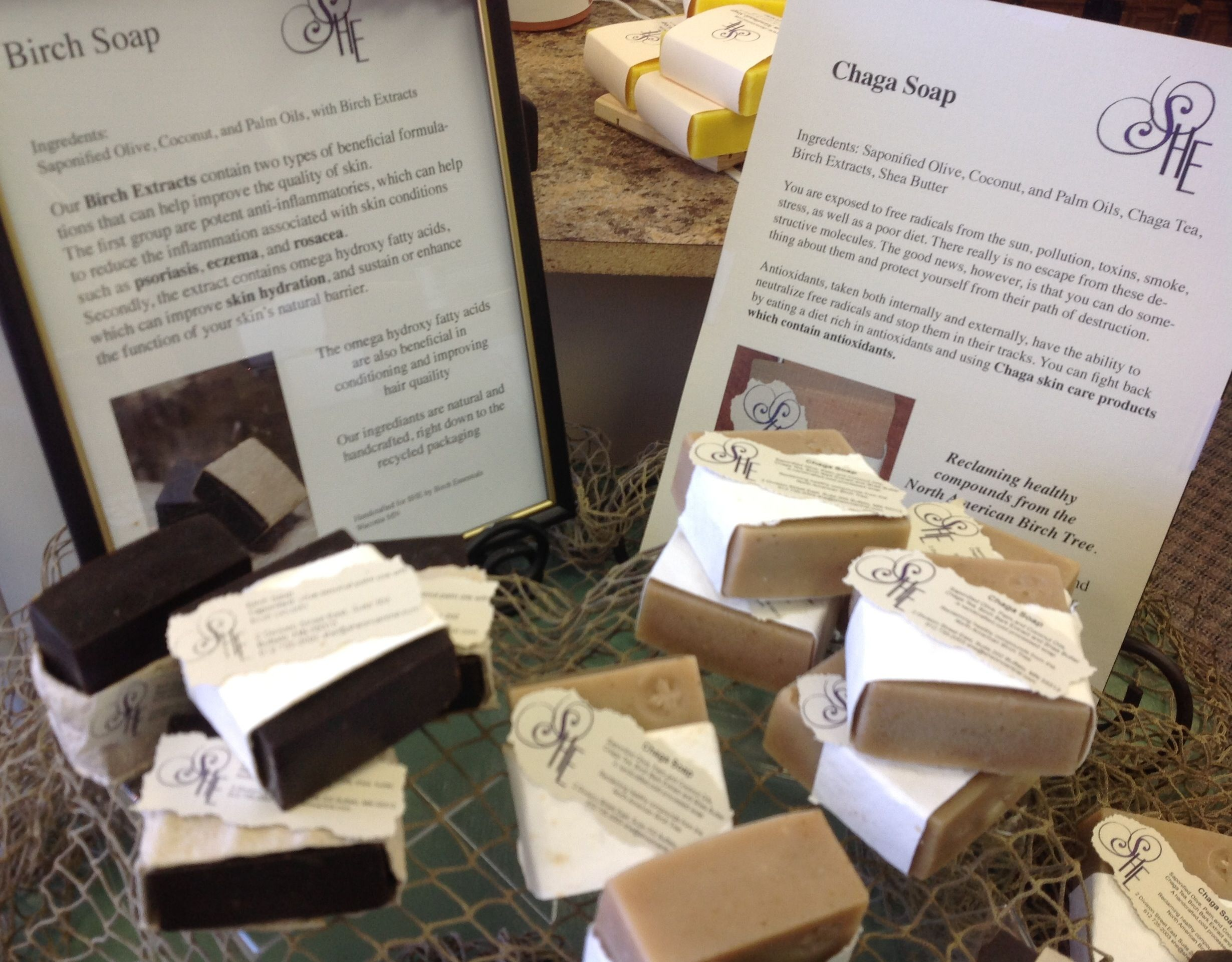 Soap with a purpose... Birch & Chaga Soap. Handcrafted in Minnesota.