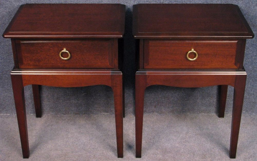 Pair Of Stag Minstrel Mahogany Single Drawer Side Bedside Tables