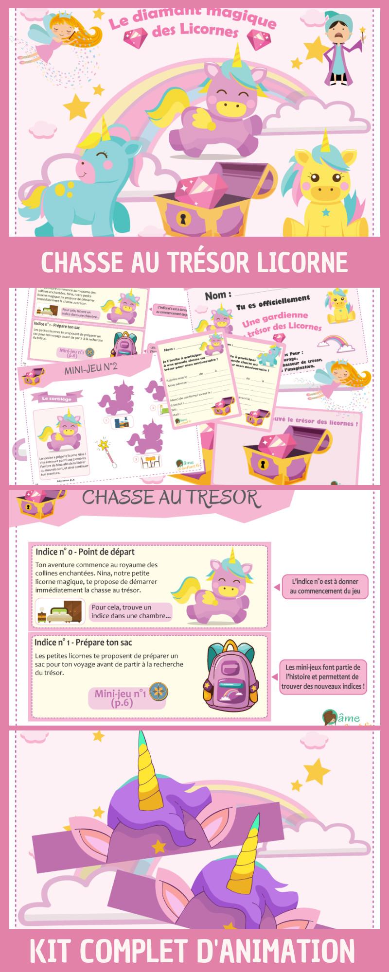 Jeu D'anniversaire Pour Fille De 10 Ans Awesome Chasse Au Trésor Licorne Mix… (2020)   Deco ...