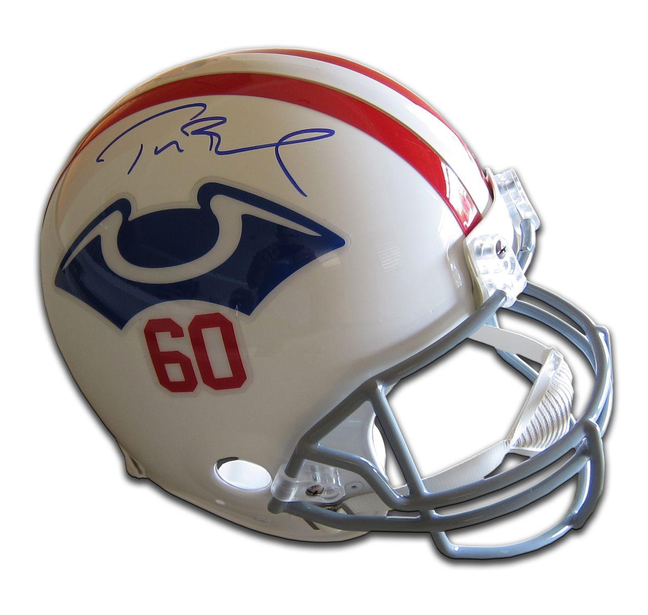 buy popular 6c18f db24c TOM BRADY Signed Authentic Patriots Proline Throwback Helmet ...