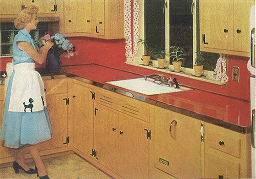 Ge Textolite Laminate Patterns From 1953 Retro Renovation Knotty Pine Kitchen Retro Tiles Retro Kitchen