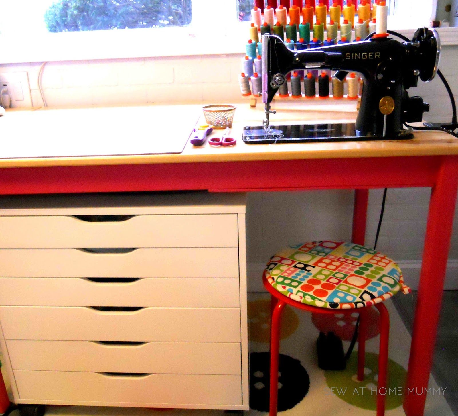 Diy ikea sewing table  Tutorial IKEA Hack The INGO Sewing Table for my Singer