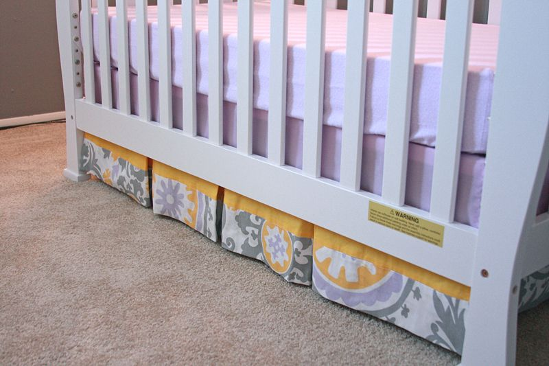 Crafty Fridays How To Make A Pleated Crib Skirt Baby