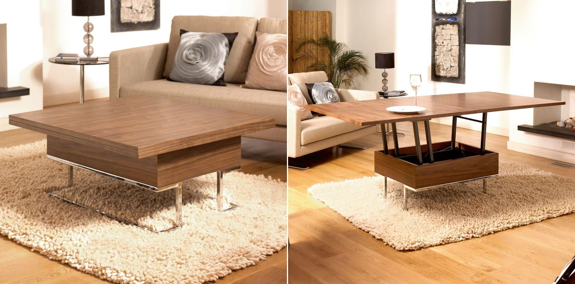 Convertible coffee table to dining room table coffee