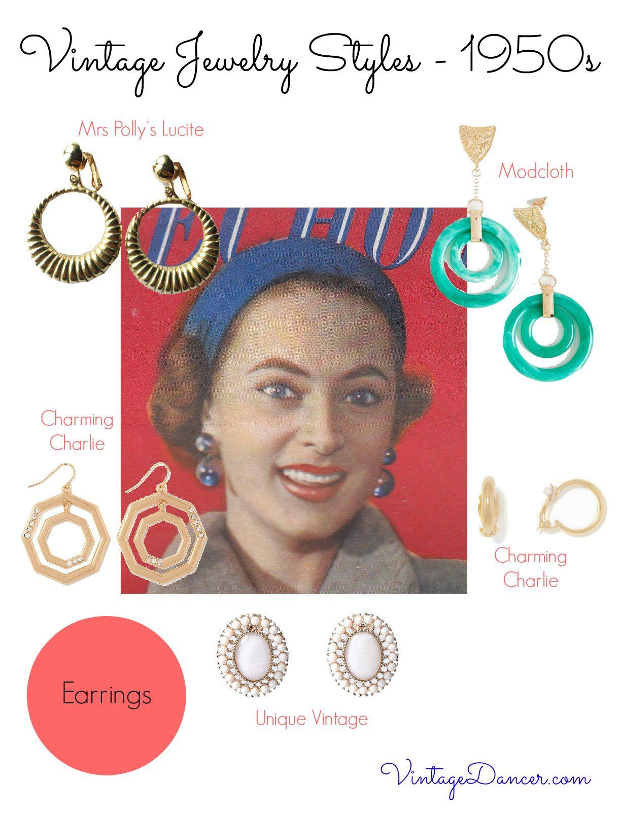 1950s Jewelry Styles And History 1950s Jewelry Style 1950s Jewelry Fashion Jewelry