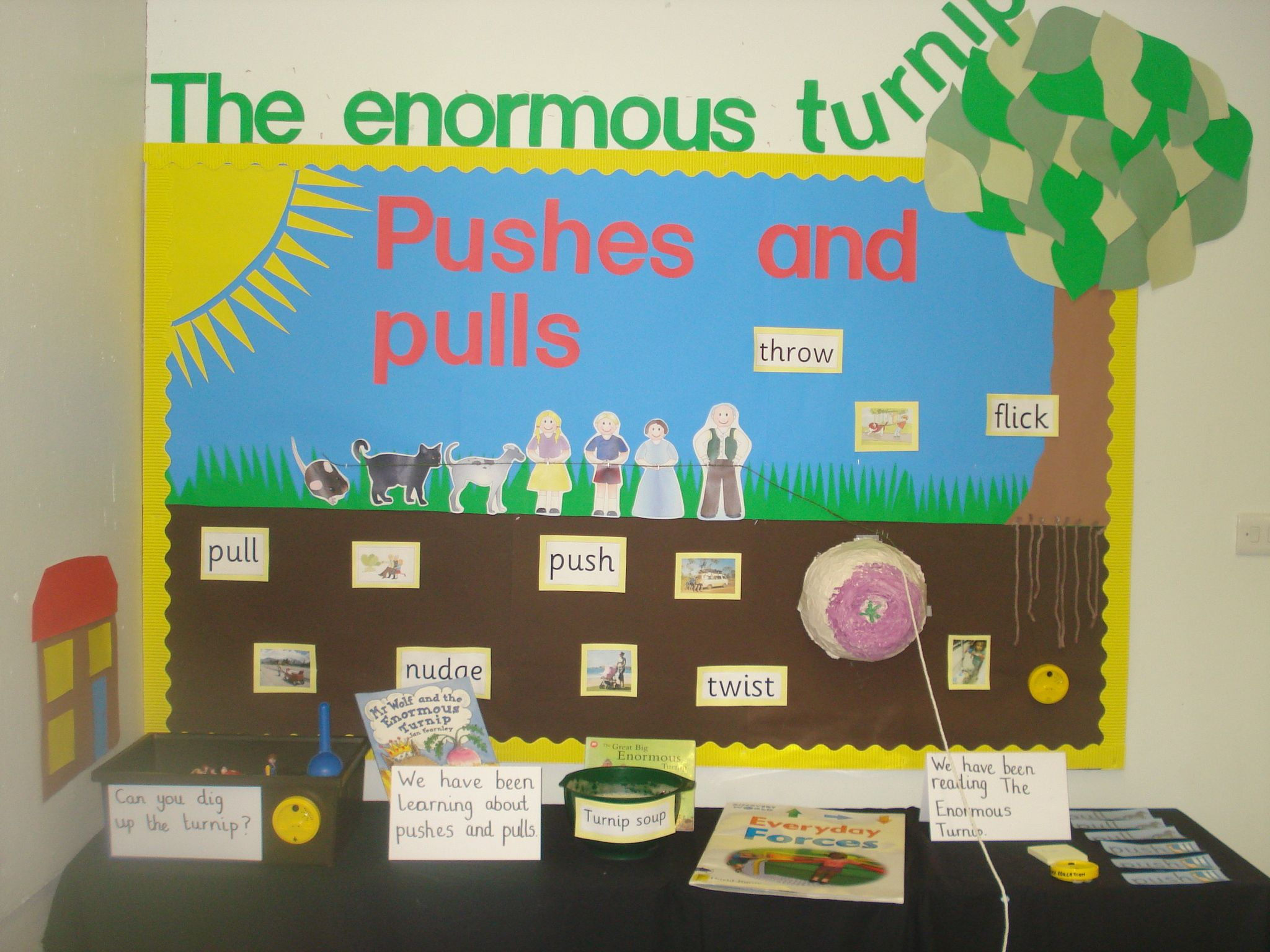 Science Display On Pushes And Pulls