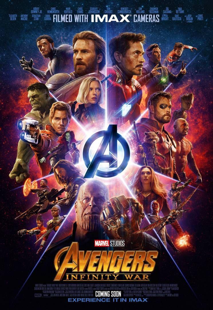 Cine Avengers Infinity War Poster Promocional Para Imax Recordemos Que Esta Pelicula Es La Primera De Marvel En Ser Vingadores Marvel Cartaz Da Marvel
