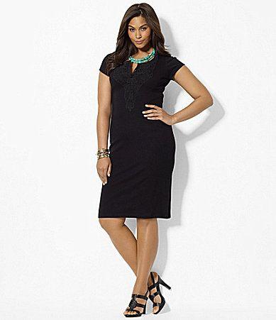 Lauren Ralph Lauren Woman Cotton Scoopneck Dress Dillards Fashion