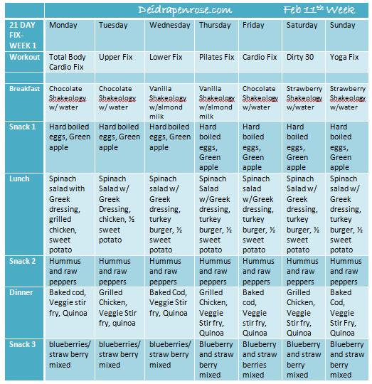21 Day Challenge on Pinterest | Primal Blueprint Recipes, 21 Day Fix ...