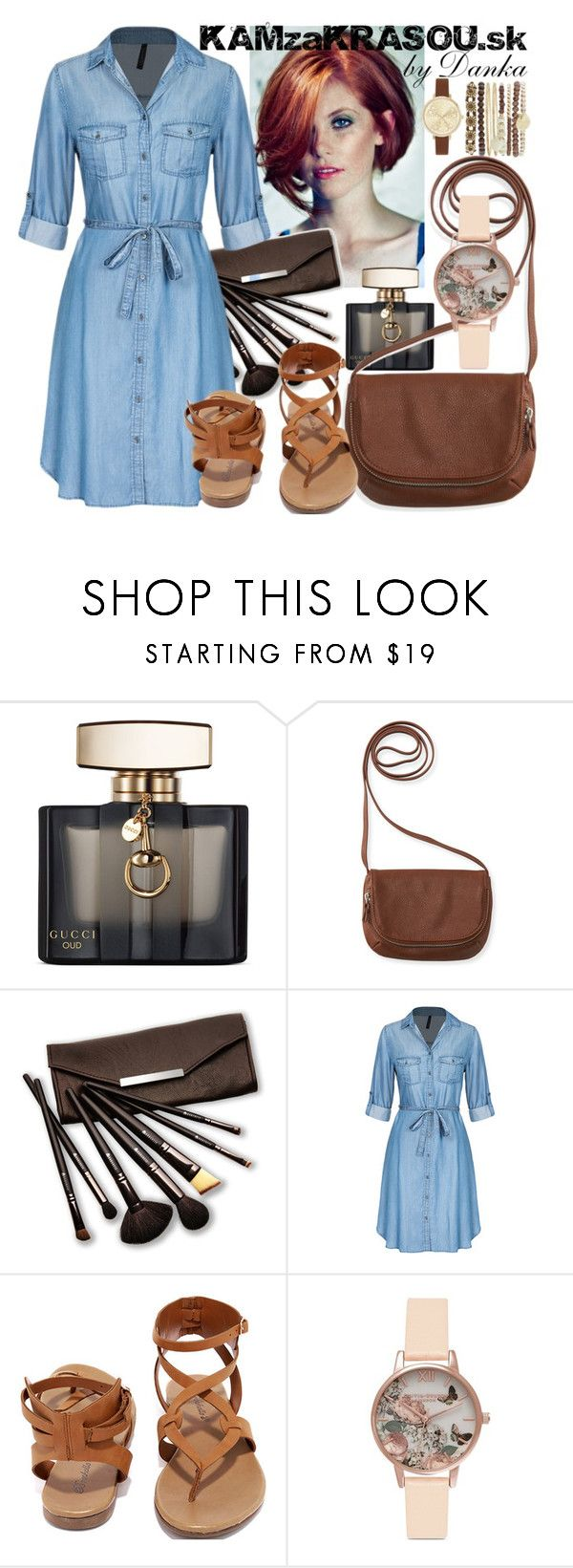 """""""Untitled #655"""" by dana-sindleryova ❤ liked on Polyvore featuring Gucci, Aéropostale, Borghese, Breckelle's, Olivia Burton and Jessica Carlyle"""