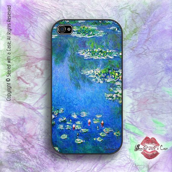monet water lilies iphone 4 4s 5 5s 5c 6 6 and now. Black Bedroom Furniture Sets. Home Design Ideas