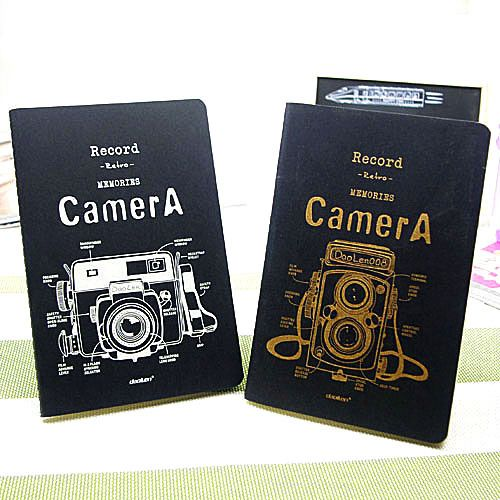 Complex ancient camera cover notepad; 22K retro style notebook; creative stationery $3.93