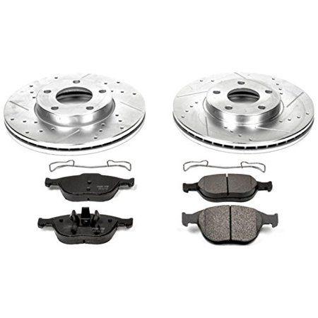 Power Stop K5580 Z23 Evolution Sport Upgrade Brake Kit Front Ceramic Brake Pads Ceramic Brakes Brake Pads