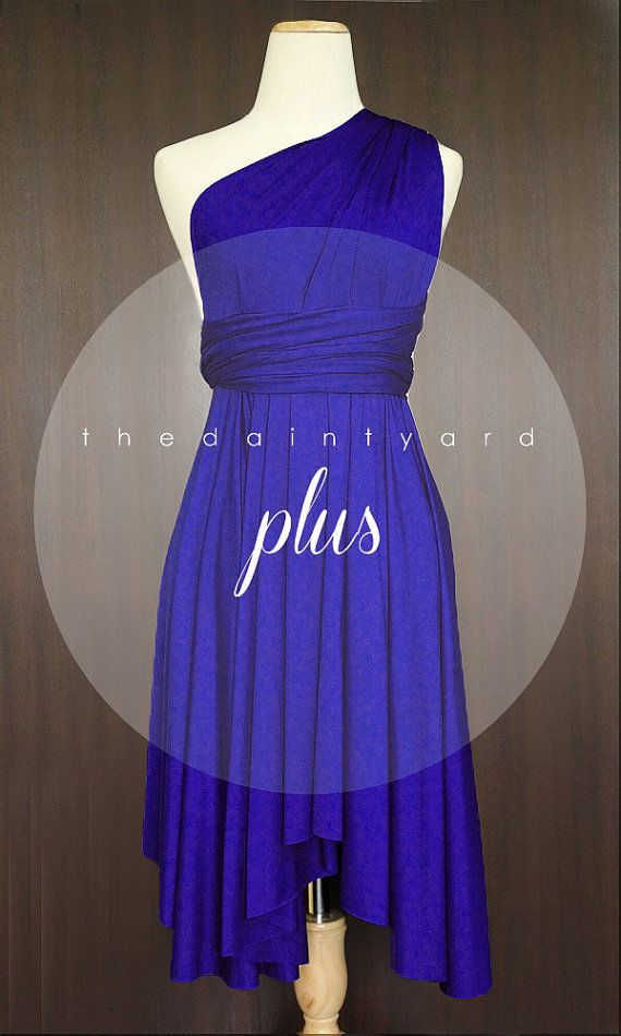 Plus Size Royal Blue Bridesmaid Dress Convertible Dress | Wedding ...